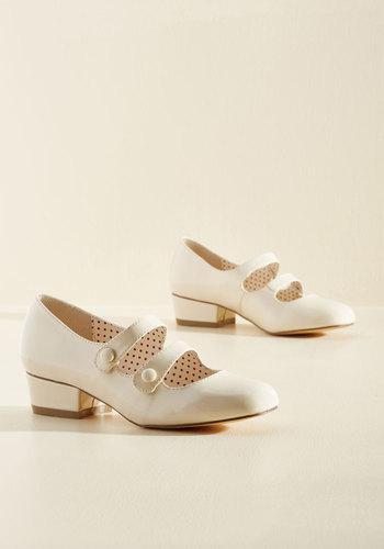 Kicks of the Trade Heel in Vanilla $69.99 AT vintagedancer.com