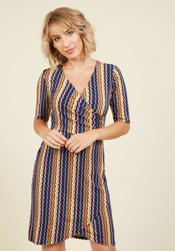 The Time is Bright Wrap Dress