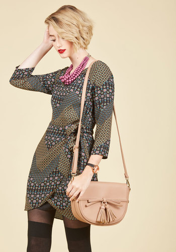 Life Will Twist and Pattern Wrap Dress