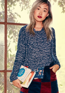 Sign, Chenille, Deliver Sweater in Midnight