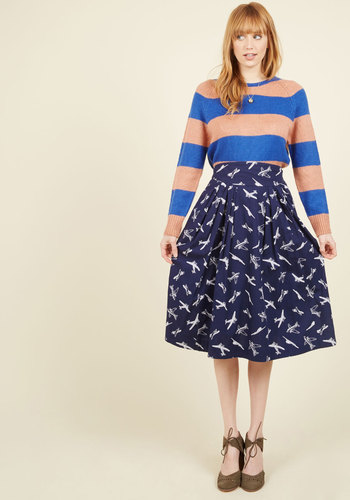 1940s Style Skirts Far-Out and Fabulous Skirt in Airplanes $79.99 AT vintagedancer.com