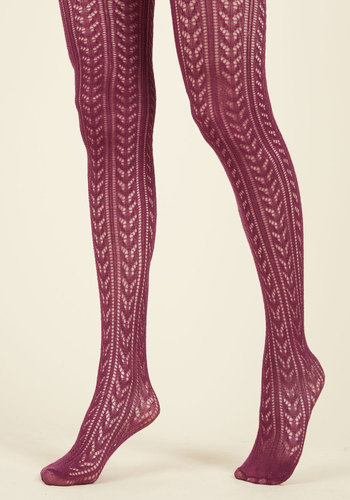 Pointelle the Difference Tights $30.99 AT vintagedancer.com
