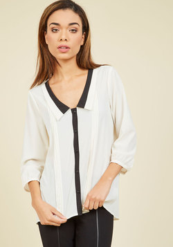 Quintessentially Classy Button-Up Top