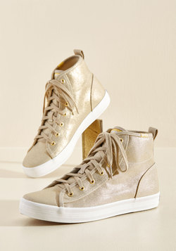 Hi-Top Hype Sneaker in Champagne Sparkle