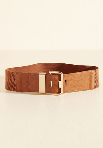 Signature Accessory Belt in Sienna - Tan, Buckles, Woven, Gold, Work, Casual, Fall, Winter