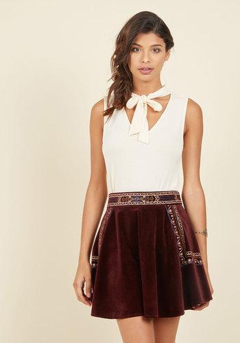 In Your Own Twirl Velvet Skirt
