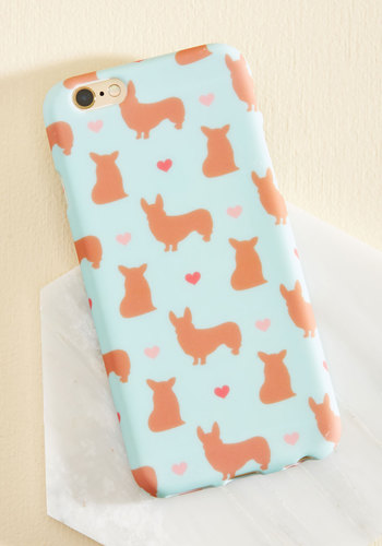Collar Me Maybe iPhone 6/6s Case - Blue, Pink, Tan / Cream, Animal Print, Print with Animals, Novelty Print, Print, Critters, Dog, Gals