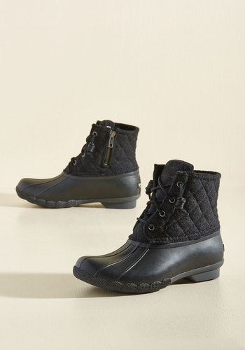 Fine Weather for Luxe Boots in Black