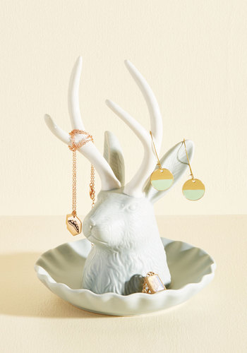 Never Myth a Trick Jewelry Stand - Multi, Multi, Dorm Decor, Critters, Woodland Creature, Spring, Summer, Fall, Winter, Gals, Mint, White, Boho, Statement, Rustic, Quirky, Critter Gifts, Luxe Gifts, Under 100 Gifts, Store 1, Unique Gifts