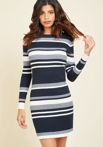 As Luck Would Have Knit Sweater Dress