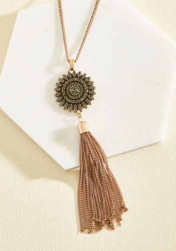 Your Place in the Sunburst Necklace - Special Occasion, Party, Girls Night Out, Fall, Gold, Good
