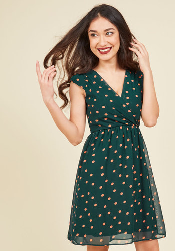 All She Wants to Do is Prance A-Line Dress in Pine