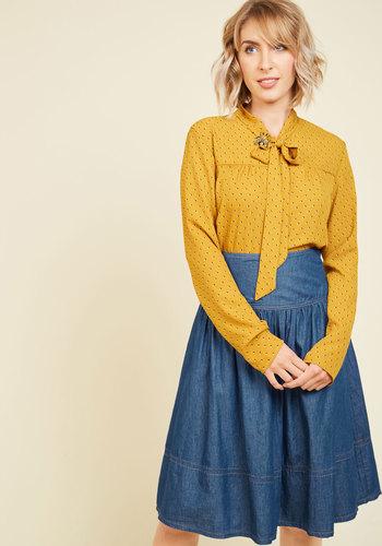 1920s Style Blouses Bakery Browsing Skirt $59.99 AT vintagedancer.com