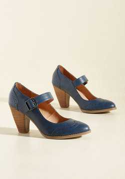 Tap of Luxury Mary Jane Heel in Navy