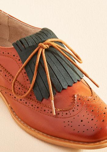 1930s Style Shoes Kiltie Fringe Set in Basil $9.99 AT vintagedancer.com