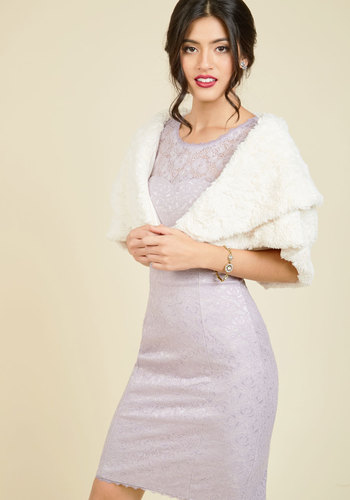 1950s Style Coats and Jackets Cape It With You in Ivory $74.99 AT vintagedancer.com