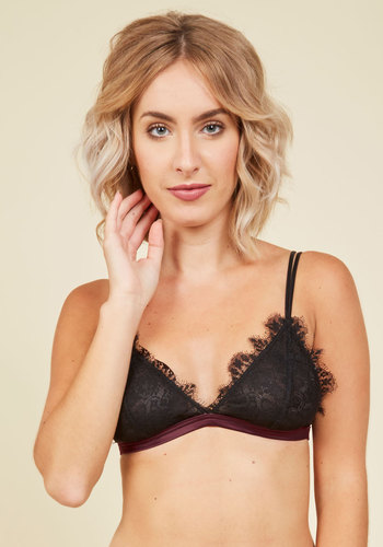 Daybreak Adoration Bralette in Plum - Purple, Black, Solid, Lace, Special Occasion, Pinup, Vintage Inspired, Boudoir, Spring, Summer, Fall, Sheer, Lace, Best, Exclusives, Private Label