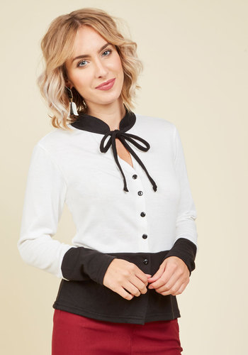 1940s Blouses and Tops Optimist Opportunity Cardigan $49.99 AT vintagedancer.com