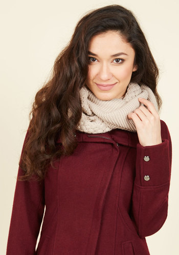 Chill Out on the Town Scarf in Cream