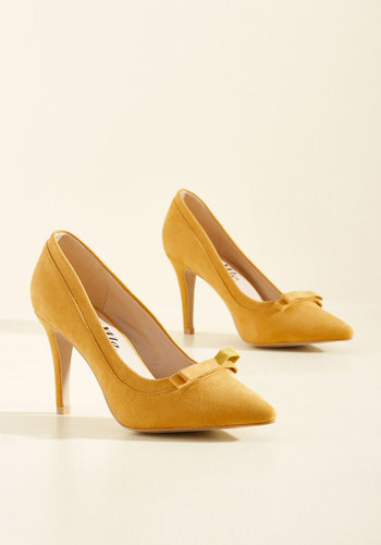 1950sStyleShoes Pump at the Opportunity Heel in Goldenrod $39.99 AT vintagedancer.com