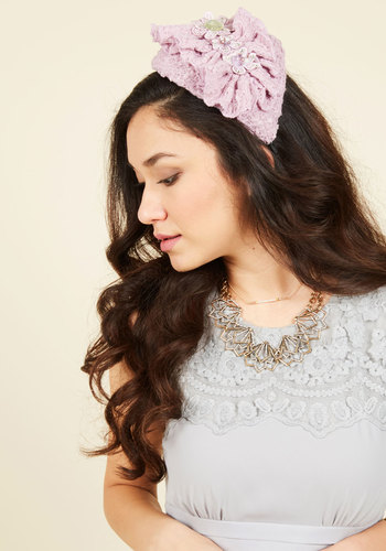 Revel in Femininity Fascinator - Lavender, Blush, Rhinestones, Ruching, Prom, Wedding, Bridesmaid, Pastel, Fall, Best