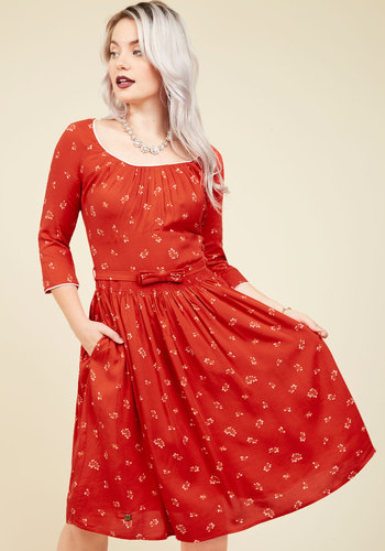 Gotta Hand It to Unique Midi Dress $149.99 AT vintagedancer.com