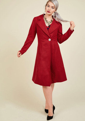 1950s Style Coats and Jackets Fall in Love Coat $139.99 AT vintagedancer.com