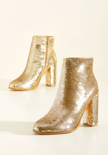 A Sequin-Win Situation Booties