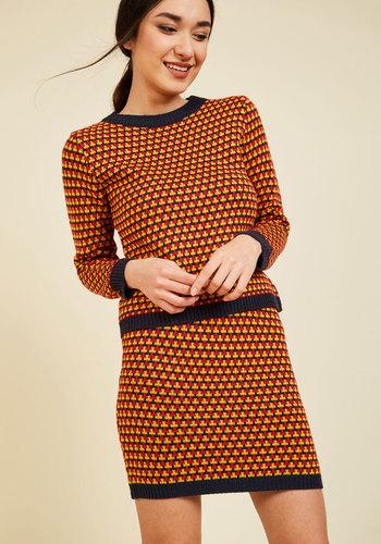 Geometric Coordinates Sweater Set
