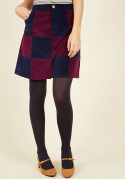 Patchwork It Out A-Line Skirt