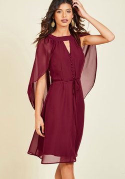 Icing on the Cape A-Line Dress