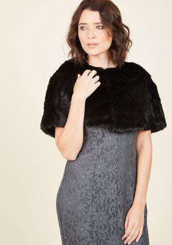 Retro Vintage Style Coats, Jackets, Fur Stoles Posh Proclamation Cape $59.99 AT vintagedancer.com
