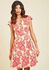 Belle Beginnings A-Line Dress in Roses