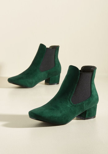 Get Up and Go-Go Booties in Pine