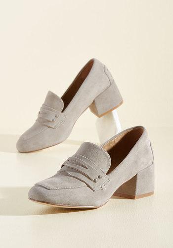 1940s Womens Shoe Styles Grad to Hear It Suede Heel $109.99 AT vintagedancer.com