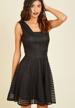 Warm Welcome Home A-Line Dress in Noir