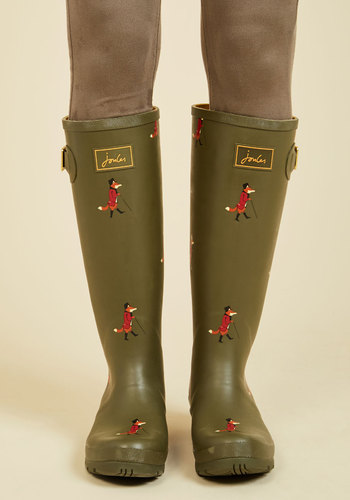 Splash the Time Rain Boot in Dapper Foxes