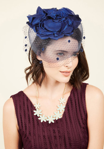 1940s Style Hats Out on the Crown Fascinator $64.99 AT vintagedancer.com