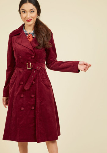 Retro Vintage Style Coats, Jackets, Fur Stoles Layer on the Luxury Trench $169.99 AT vintagedancer.com
