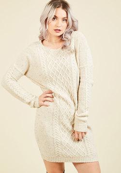 Bold Plans, Warm Heart Sweater Dress