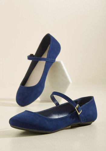 Retro Vintage Flats and Low Heel Shoes Classy in a Flash Flat in Navy $34.99 AT vintagedancer.com