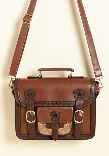 Cottage Visit Bag in Cinnamon - Brown, Tan, Buckles, Woven, Work, Casual, Best Seller, Colorblocking, Scholastic/Collegiate, Fall, Faux Leather, Better, Neutral, Store 1