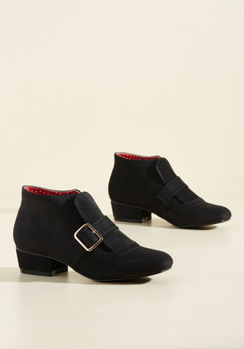Showcase Your Strut Booties in Onyx