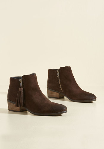 Do Now, Tassel Later Suede Booties