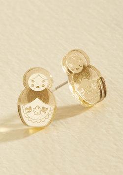 Nesting, One Two Stud Earrings