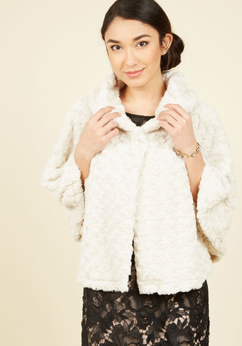 Shop 1960s Style Coats and Jackets Symphonic State of Mind Cape in Ivory $89.99 AT vintagedancer.com