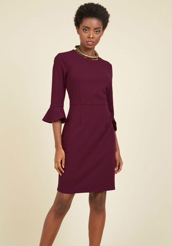 Royal Palette Sheath Dress