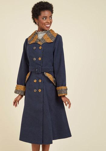 Shop 1960s Style Coats and Jackets Established Aesthetic Coat $209.99 AT vintagedancer.com