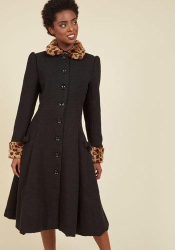 Retro Vintage Style Coats, Jackets, Fur Stoles Golden Age of Glam Coat $219.99 AT vintagedancer.com