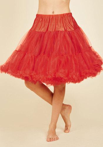 VintageInspiredLingerie Va Va Voluminous Petticoat in Red - Short $52.99 AT vintagedancer.com